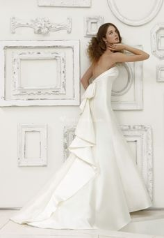 #Abito da #sposa bianco senza spalline