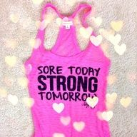 Sore Today Strong Tomorrow shirt from Blogilates