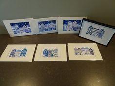 Schilderijtjes handgemaakt, elk exemplaar  uniek. Boarding Pass