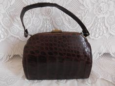 Vintage 1940s Handbag Purse Box Bag by TimelessTreasuresVCB, $48.00