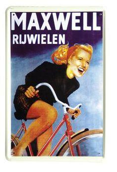 Maxwell rijwielen | Blikken borden 20x30 | www.19toen.nl