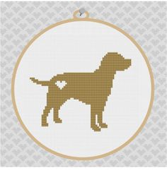 You know your dog is spoiled when you decorate your baby's room with his likeness. Labrador Silhouette Cross Stitch PDF Pattern by kattuna on Etsy, $3.50
