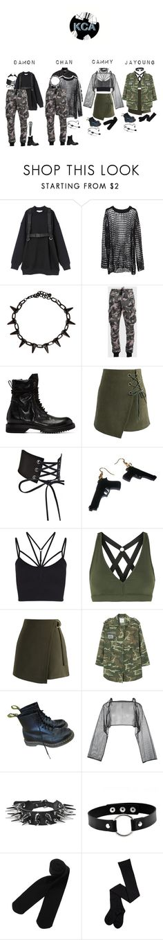 """""""Untitled #33"""" by pc-blue ❤ liked on Polyvore featuring Givenchy, Balmain, Rick Owens, Chicwish, Audio-Technica, Sweaty Betty, Koral, MANGO, Dr. Martens and demoo parkchoonmoo"""