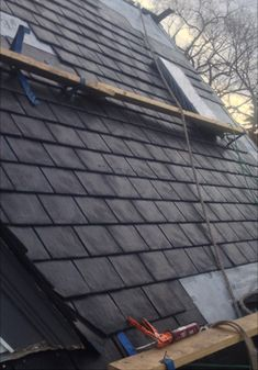 Heritage Slate in Black   #EuroLite #Slate #Blake #roof #roofing #roofingmaterial #rubber #lifetimewarranty #authentic #shingles #contractor #design #renos #premium #recycle #rubber #contractor #home