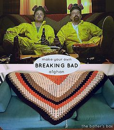 Make this great replica afghan from the hit TV show Breaking Bad!