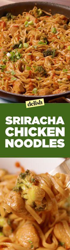 Sriracha Chicken NoodlesDelish
