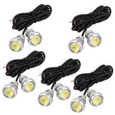 Unique Bargains 10Pcs Car 23mm Diameter White Eagle Eye LED Lamp Daytime Running Lights 12V