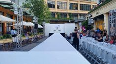 Active Fashion Division created this amazing outdoor runway setup for our client's great charitable cause! Fashion Events, Outdoor Events, Division, Atlanta, Fashion Show, Runway, Audio, Street View, Amazing