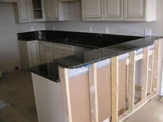 kitchen island with raised bar