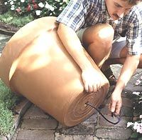 Step by step instructions for making a fountain out of a pot.