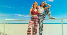 Save the elephants and look good in our bohemian harem pants, shorts, palazzo pants, and more. A portion of all sales donated to prevent elephant poaching.