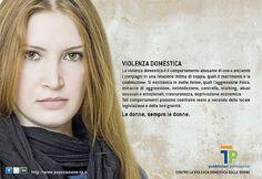 campagna di sensibilizzazione sociale contro la violenza domestica sulle donne promossa da TP