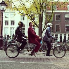 Nothing To See Here, Just Ron Burgundy And Daft Punk Sightseeing Around Amsterdam On A Bicycle (via BuzzFeed)