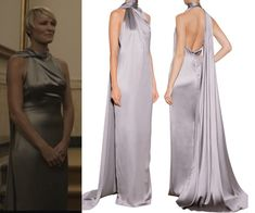 house of cards season hoc 3 claire grey silver gown state dinner chapter 29 robin wright