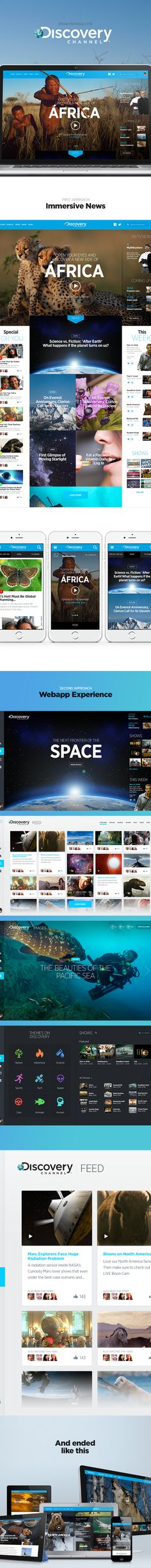 Discovery Channel Latin America Website Design