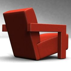 GERRIT RIETVELD, Utrecht armchair, 1935.