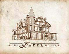 Baker House stationery design by bashango