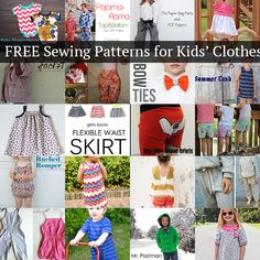 20 free sewing patterns for kids clothes!