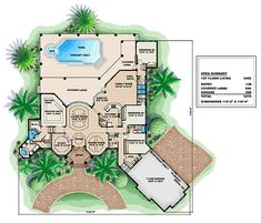 First Floor Plan of Mediterranean   House Plan 60570
