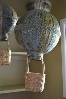 Vintage Style Hot Air Balloons for Nursery Decorations