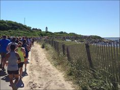 Falmouth Road Race - Heading Towards Lighthouse