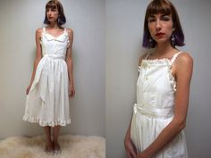 Eyelet Dress PINAFORE DRESS Cotton SunDress White Cotton Dress 70s SunDress Gunne Sax Style Dress Hippie SunDress Boho SunDress