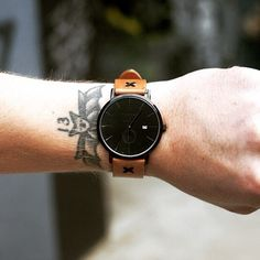 The Brooklyn 1.5 with the Natural Classic Strap, shipping now at thronewatches.com