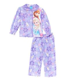 Look what I found on #zulily! Frozen Purple Button-Up Pajama Set - Toddler #zulilyfinds