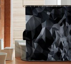 Black, White, and gray Home Decoration custom Shower Curtain