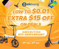 Geekbuying special offers ! 8th Anniversary, Electric Scooter, Electronics, Clothing, Accessories, Electric Moped Scooter, Outfit, Clothes, Kleding