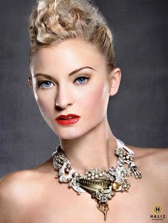 An original one of a kind necklace by Marelle Couture/Hopscotch Couture.
