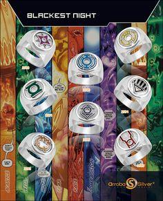 lantern rings for wedding party Green Lantern Corps, Red Lantern, Green Lanterns, Dc Comics, Anime Comics, Comic Book Heroes, Comic Books, Superhero Rings, Lantern Rings
