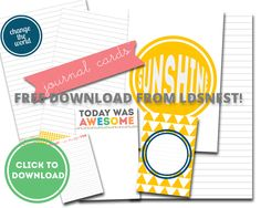 Free Project Life Journal Cards | LDS Nest