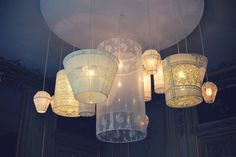 "Cari Mateo: ""Love these vintage lace-covered lamps found through the Trendy Girl. The romantic lamps were created by graphic designer, Jeanne Notari, for French store, Serendipity.""    Images: Courtesy of the Trendy Girl."