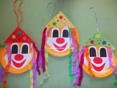 Clown Crafts, Easy Crafts For Kids, Diy And Crafts, Arts And Crafts, Circus Art, Circus Theme, Clowns, Carnival Decorations, Le Clown