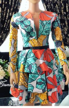 Modern Trendy Ankara Styles For Ladies Trendy Ankara Styles, Ankara Gown Styles, Ankara Dress, Peplum Dresses, Peplum Tops, African Print Dresses, African Fashion Dresses, African Dress, Fashion Outfits