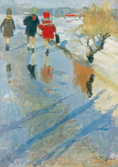 The Leningrad School of Painting - Nikolai Pozdneev. Spring Day. 1959.