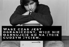Stevie Jobs na temat uciekającego czasu.