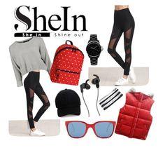 """SheIn Look"" by majda08 on Polyvore featuring moda, JWorld, Steve Madden, Polo Ralph Lauren, Chanel, ESCADA, JBL i NIKE"