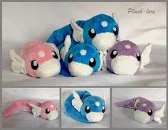 They are all made of minky, and lightly stuffed with beads at the end of their tails to they are very floppy and cuddly. they are 18 inches long, and are just so lovey. I first made one blue one th...