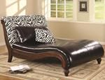 Coaster Chaise Lounge #Black #white #Furniture
