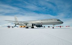 In 2009, the Royal New Zealand Air Force flew one of its 757 Combis to Antarctica for the first time - photo: New Zealand Defence Force