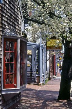 Nantucket, Cape Cod, Massachusetts - quaint and classic New England! Find more to do on Cape Cod. Cool Places To Visit, Places To Travel, New Hampshire, Les Hamptons, Nantucket Island, Nantucket Style, Nantucket Beach, Nantucket Cottage, Nantucket Wedding