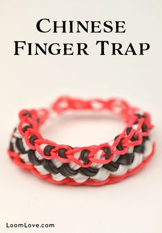 How to make a Chinese Finger Trap Bracelet - Rainbow Loom video tutorial