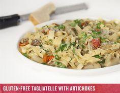Noah Sandoval's gluten-free tagliatelle with artichokes is an ideal springtime dish.