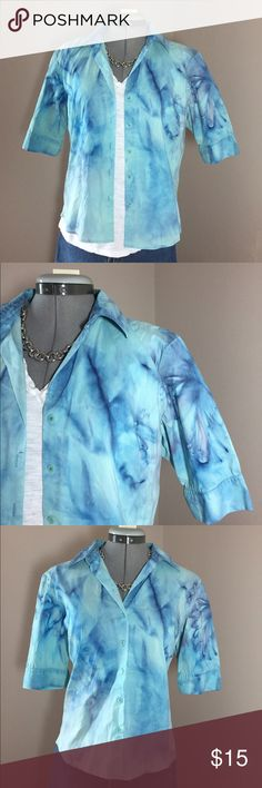 """🆕Listing: Hand Dyed Button Down Dress Shirt Hand Dyed Button Down Dress Shirt. This is an Old Navy Stretch Button Down that was white and then hand dyed. Shirt is soft and has stretch for comfort fit. Size M measures: 18"""" across shoulders, 21"""" across chest, 23"""" long, 11"""" sleeve. 62% cotton, 34% nylon, 4% spandex. 319/25/032217 handmade Tops Button Down Shirts"""