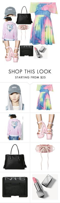 """."" by laura-lorena-forever ❤ liked on Polyvore featuring Petals and Peacocks, Lazy Oaf, Longchamp, Puma, NARS Cosmetics and Burberry"