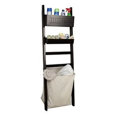 Keep your toiletries and other accessories clean and neat with this space saving leaning shelf with hamper. Fixed upper storage compartment and two adjust. Bathroom Cabinets, Furniture Design Modern, Wall Mounted Cabinet, Furniture Decor, Bathroom Inspiration, Cabinet Shelving, Shelves, Shelving, Bathroom Shelves