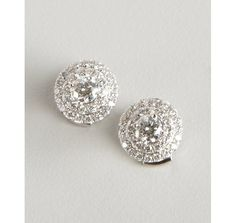 Tiffany & Co. Tiffany & Co diamond and platinum 'Soleste' stud earrings
