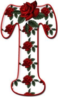 Alfabeto Florido - PNG..T